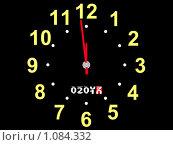 Купить «Наступление нового года на гибриде часов и автомобильного одометра», иллюстрация № 1084332 (c) Дмитрий Ломейко / Фотобанк Лори