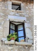 Купить «Горная деревня Гурдон. Окно», фото № 1084668, снято 8 июля 2009 г. (c) Татьяна Лата / Фотобанк Лори
