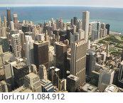 Купить «Вид на небоскребы Чикаго с высоты птичьего полета», фото № 1084912, снято 8 сентября 2007 г. (c) Евгений Дубинчук / Фотобанк Лори