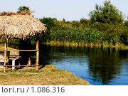 Беседка на берегу реки. Стоковое фото, фотограф Гордиенко Олег / Фотобанк Лори