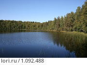 Купить «Лесное озеро. пляж», фото № 1092488, снято 12 сентября 2009 г. (c) Устинов Дмитрий Николаевич / Фотобанк Лори