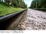 Железнодорожные пути. Стоковое фото, фотограф Анфимов Леонид / Фотобанк Лори