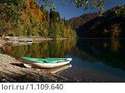 Купить «Берег озера Рица (Абхазия) в районе дачи Сталина», фото № 1109640, снято 31 октября 2008 г. (c) Rogal Anna / Фотобанк Лори