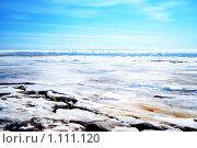 Финский залив во льду весной. Стоковое фото, фотограф Михаил Сметанин / Фотобанк Лори