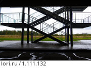 Пожарная лестница. Стоковое фото, фотограф Михаил Сметанин / Фотобанк Лори