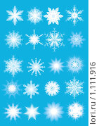 Снежинки. Стоковая иллюстрация, иллюстратор Гульнара Магданова / Фотобанк Лори