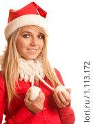 Купить «Девушка в костюме Санта-Клауса», фото № 1113172, снято 6 февраля 2009 г. (c) BestPhotoStudio / Фотобанк Лори