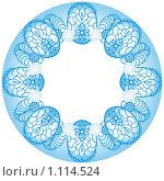 Цветочный узор в круге. Стоковая иллюстрация, иллюстратор Светлана Бакланова / Фотобанк Лори