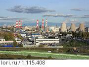 Купить «Индустриальный пейзаж с высоты птичьего полёта», фото № 1115408, снято 26 сентября 2009 г. (c) Erudit / Фотобанк Лори