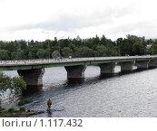 Мост в Сортавала (2008 год). Редакционное фото, фотограф Алла Виноградова / Фотобанк Лори
