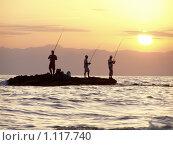 Рыбаки. Стоковое фото, фотограф Василий Пилицын / Фотобанк Лори