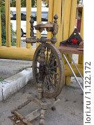 Купить «Старинная деревянная прялка. Суздаль», фото № 1122172, снято 22 сентября 2009 г. (c) Татьяна Дигурян / Фотобанк Лори