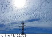 Высоковольтное небо. Стоковое фото, фотограф Виталий Гречко / Фотобанк Лори