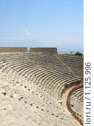 Купить «Амфитеатр в античном городе Хиераполис, Турция», фото № 1125996, снято 8 августа 2008 г. (c) Роман Бородаев / Фотобанк Лори