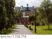 Сквер возле Никольского собора, город Оренбург, фото № 1132716, снято 5 июля 2009 г. (c) Вадим Орлов / Фотобанк Лори