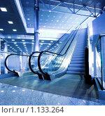 Купить «Интерьер с эскалатором», фото № 1133264, снято 25 июня 2008 г. (c) Бабенко Денис Юрьевич / Фотобанк Лори
