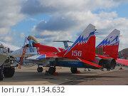 Купить «Истребитель Миг-29», эксклюзивное фото № 1134632, снято 19 августа 2009 г. (c) Алёшина Оксана / Фотобанк Лори