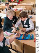 Купить «Мальчики играют на перемене в школе», фото № 1134708, снято 23 сентября 2009 г. (c) Федор Королевский / Фотобанк Лори
