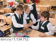 Купить «Мальчики играют на перемене», фото № 1134712, снято 23 сентября 2009 г. (c) Федор Королевский / Фотобанк Лори