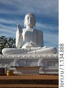 Купить «Статуя сидящего Будды, Михинтале, Шри Ланка», фото № 1134888, снято 26 сентября 2009 г. (c) Дмитрий Рухленко / Фотобанк Лори