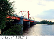 Мост через реку Кузнечиху (2008 год). Стоковое фото, фотограф Иванова Татьяна / Фотобанк Лори