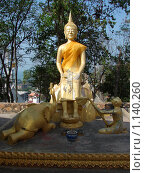 Купить «Таиланд, Паттайя, скульптура Будды около буддийского храма», фото № 1140260, снято 15 марта 2009 г. (c) Елена Воронкова / Фотобанк Лори