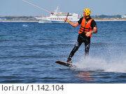 Купить «Анапа. Морской воднолыжный стадион на канатной тяге.», фото № 1142104, снято 24 сентября 2009 г. (c) Валерий Александрович / Фотобанк Лори