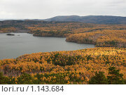 Купить «Осенний лес на берегу озера», фото № 1143684, снято 11 октября 2008 г. (c) Анна Омельченко / Фотобанк Лори