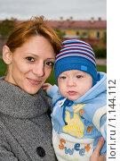 Купить «Мама с ребенком», фото № 1144112, снято 27 сентября 2009 г. (c) Кекяляйнен Андрей / Фотобанк Лори