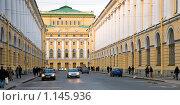 Улица Зодчего Росси. Санкт-Петербург (2009 год). Редакционное фото, фотограф Александр Алексеев / Фотобанк Лори