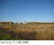 Купить «Церковь в поле», фото № 1145948, снято 11 октября 2009 г. (c) Плотников Михаил / Фотобанк Лори