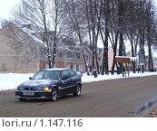 Машина едет зимой (2008 год). Редакционное фото, фотограф Alexander Pasichenko / Фотобанк Лори