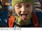 Девочка показывает язык. Стоковое фото, фотограф Смирнов Владимир / Фотобанк Лори