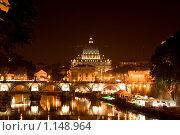 Купить «Сан Пьетро ночью, Рим», фото № 1148964, снято 25 августа 2009 г. (c) Оксана Кацен / Фотобанк Лори