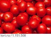 Фон из красных помидоров. Стоковое фото, фотограф Руслан Кудрин / Фотобанк Лори