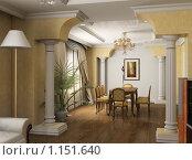 Купить «Интерьер обеденной в классическом стиле. Рендеринг», иллюстрация № 1151640 (c) Майер Георгий Владимирович / Фотобанк Лори