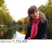 Красивая девушка в осеннем парке. Стоковое фото, фотограф Примак Полина / Фотобанк Лори