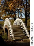 Купить «Китайский мостик в парке Монрепо (Выборг)», фото № 1152916, снято 20 октября 2007 г. (c) Пётр Соболев / Фотобанк Лори