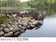 Купить «Соловецкие острова. Берег канала между озерами.», фото № 1152996, снято 12 сентября 2009 г. (c) Михаил Ворожцов / Фотобанк Лори