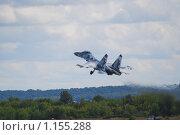 Купить «Взлет истребителя Су-30МКИ», эксклюзивное фото № 1155288, снято 19 августа 2009 г. (c) Алёшина Оксана / Фотобанк Лори