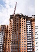 Купить «Строительный кран над домом», фото № 1157188, снято 6 июня 2008 г. (c) Лилия Барладян / Фотобанк Лори