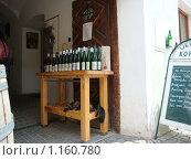 Купить «Столик с винами для дегуствции», фото № 1160780, снято 3 июля 2009 г. (c) Светлана Попова / Фотобанк Лори