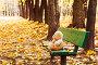 Грустный игрушечный мишка в осеннем парке, фото № 1162456, снято 16 октября 2009 г. (c) Кузнецова Юлия (aka Syaochka) / Фотобанк Лори