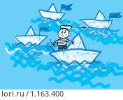 Купить «Морячок», иллюстрация № 1163400 (c) Анна Боровикова / Фотобанк Лори