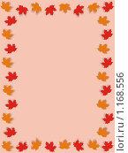 Фоновое изображение нейтральных тонов с рамкой из осенних листьев. Стоковая иллюстрация, иллюстратор Бридько Анна / Фотобанк Лори