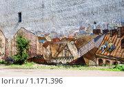 Купить «Старый Выборг. Граффити на брандмауэре старого дома», эксклюзивное фото № 1171396, снято 22 августа 2009 г. (c) Александр Щепин / Фотобанк Лори