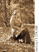 Портрет женщины в стиле ретро. Стоковое фото, фотограф Александр Рюмин / Фотобанк Лори
