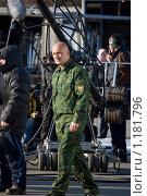 Гоша Куценко на съемках (2009 год). Редакционное фото, фотограф Алексей Росляков / Фотобанк Лори