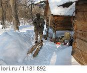 Охотничий лабаз, охотничьи лыжи (2009 год). Редакционное фото, фотограф Павел Сидоренко / Фотобанк Лори