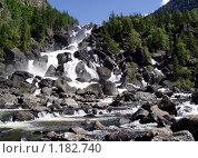Купить «Чульчинский водопад, Алтай», фото № 1182740, снято 22 октября 2018 г. (c) Александр Литовченко / Фотобанк Лори